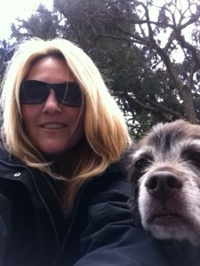 Dawn & Reese taking a break from their walk today. Love you little girl!